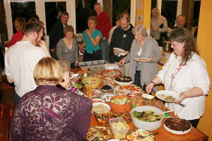 Sangstream's social activities - eating together